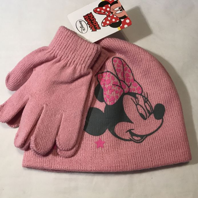 New Minnie Mouse Hat and Gloves 2-6 Years